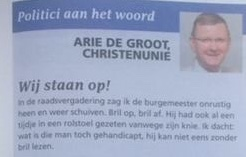 Wij Staan Op! *Column Arie de Groot